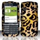 Hard Rubber Feel Design Case for Samsung Replenish M580 M580 - Cheetah
