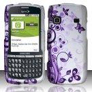 Hard Rubber Feel Design Case for Samsung Replenish M580 M580 - Purple Garden
