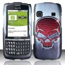 Hard Rubber Feel Design Case for Samsung Replenish M580 M580 - Red Skull