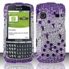 Hard Rhinestone Design Case for Samsung Replenish M580 M580 - Purple Gems