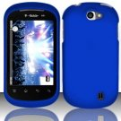Hard Rubber Feel Plastic Case for LG Doubleplay C729 (T-Mobile) - Blue