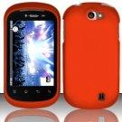 Hard Rubber Feel Plastic Case for LG Doubleplay C729 (T-Mobile) - Orange