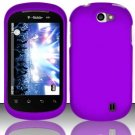 Hard Rubber Feel Plastic Case for LG Doubleplay C729 (T-Mobile) - Purple