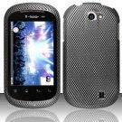 Hard Rubber Feel Design Case for LG Doubleplay C729 (T-Mobile) - Carbon Fiber