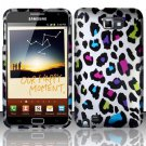 Hard Rubber Feel Design Case for Samsung Galaxy Note LTE - Colorful Leopard