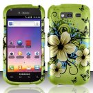 Hard Rubber Feel Design Case for Samsung Blaze 4G T769 - Hawaiian Flowers