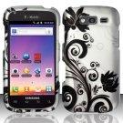 Hard Rubber Feel Design Case for Samsung Blaze 4G T769 - Black Vines