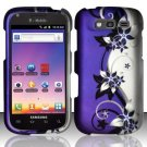 Hard Rubber Feel Design Case for Samsung Blaze 4G T769 - Purple Vines