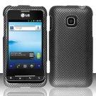 Hard Rubber Feel Design Case for LG Optimus 2 AS680 (Alltel) - Carbon Fiber