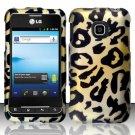 Hard Rubber Feel Design Case for LG Optimus 2 AS680 (Alltel) - Cheetah