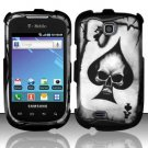 Hard Rubber Feel Design Case for Samsung Dart T499 - Spade Skull