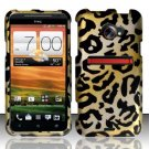 Hard Rubber Feel Design Case for HTC EVO 4G LTE (Sprint) - Cheetah