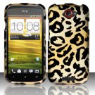 Hard Rubber Feel Design Case for HTC One S (T-Mobile) - Cheetah
