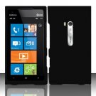 Hard Rubber Feel Plastic Case for Nokia Lumia 900 (AT&T) - Black