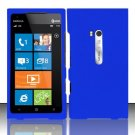Hard Rubber Feel Plastic Case for Nokia Lumia 900 (AT&T) - Blue