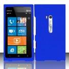 Hard Rubber Feel Plastic Case for Nokia Lumia 900 (AT&T) - Blue