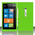 Hard Rubber Feel Plastic Case for Nokia Lumia 900 (AT&T) - Green