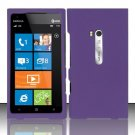 Hard Rubber Feel Plastic Case for Nokia Lumia 900 (AT&T) - Purple