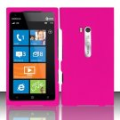 Hard Rubber Feel Plastic Case for Nokia Lumia 900 (AT&T) - Pink