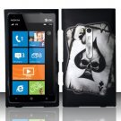 Hard Rubber Feel Design Case for Nokia Lumia 900 (AT&T) - Spade Skull