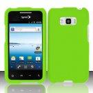 Hard Rubber Feel Plastic Case for LG Optimus Elite LS696 (Sprint) - Green