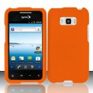 Hard Rubber Feel Plastic Case for LG Optimus Elite LS696 (Sprint) - Orange