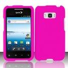 Hard Rubber Feel Plastic Case for LG Optimus Elite LS696 (Sprint) - Pink
