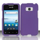 Hard Rubber Feel Plastic Case for LG Optimus Elite LS696 (Sprint) - Purple