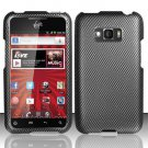 Hard Rubber Feel Design Case for LG Optimus Elite LS696 (Sprint) - Carbon Fiber
