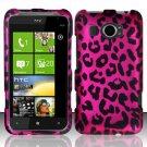 Hard Rubber Feel Design Case for HTC Titan II (AT&T) - Pink Leopard