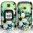 Hard Rubber Feel Design Case for Samsung Gusto 2 U365 (Verizon) - Hawaiian Flowers