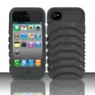 Heavy Duty Armor Case + Holster/Kickstand for Apple iPhone 4/4S - Black