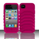 Heavy Duty Armor Case + Holster/Kickstand for Apple iPhone 4/4S - Pink