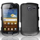 Hard Rubber Feel Design Case for Samsung Freeform 4 R390 (Cricket) - Carbon Fiber