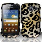 Hard Rubber Feel Design Case for Samsung Freeform 4 R390 (Cricket) - Cheetah