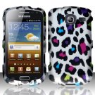 Hard Rubber Feel Design Case for Samsung Freeform 4 R390 (Cricket) - Colorful Leopard