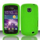 Soft Premium Silicone Case for Samsung Illusion i110 - Green