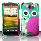 Hard Rubber Feel Design Case for HTC One X (AT&T) - Owl