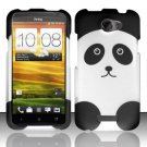 Hard Rubber Feel Design Case for HTC One X (AT&T) - Panda Bear