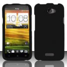 Hard Rubber Feel Plastic Case for HTC One X (AT&T) - Black