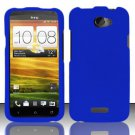 Hard Rubber Feel Plastic Case for HTC One X (AT&T) - Blue