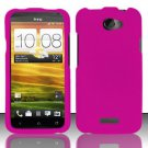Hard Rubber Feel Plastic Case for HTC One X (AT&T) - Pink