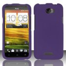 Hard Rubber Feel Plastic Case for HTC One X (AT&T) - Purple
