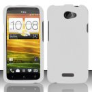 Hard Rubber Feel Plastic Case for HTC One X (AT&T) - White