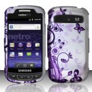 Hard Rubber Feel Design Case for Samsung Admire R720 - Purple Garden