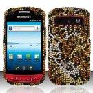Hard Rhinestone Design Case for Samsung Admire R720 - Cheetah