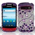 Hard Rhinestone Design Case for Samsung Admire R720 - Purple Gems