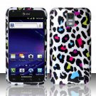 Hard Rubber Feel Design Case for Samsung Galaxy S II Skyrocket i727 (AT&T) - Colorful Leopard