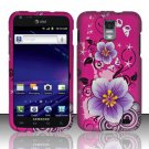 Hard Rubber Feel Design Case for Samsung Galaxy S II Skyrocket i727 (AT&T) - Hibiscus Flowers