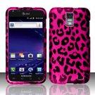 Hard Rubber Feel Design Case for Samsung Galaxy S II Skyrocket i727 (AT&T) - Pink Leopard